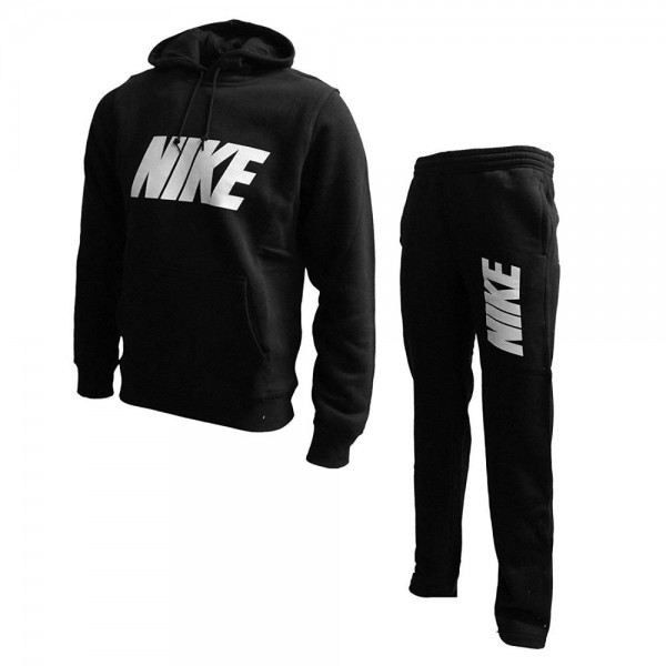 Nike Men's Club Warm Up Fleece Tracksuit Black