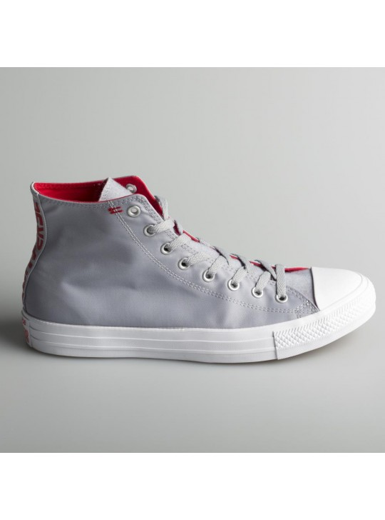 Converse Chuck Taylor All Star Hi Wolf Grey Enamil Red White