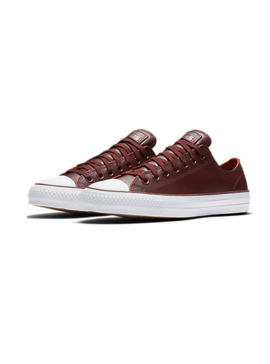 Converse CONS CTAS Pro Ox Rub Off Leather deep burgundy