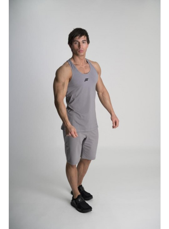 Feed The Gains FTG Men's Classic Fitted Vest - Grey