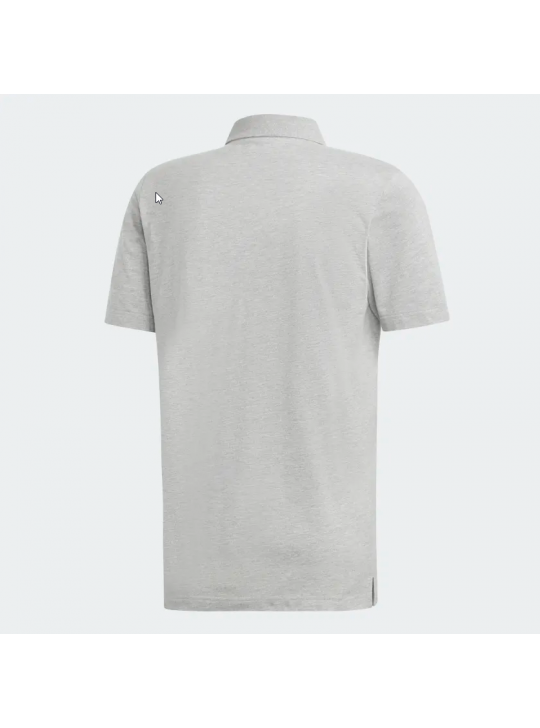 Adidas Men's Must Have Pain Medium Grey Heather Short Sleeve Polo