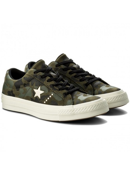 Converse One Star Leather Camo Green