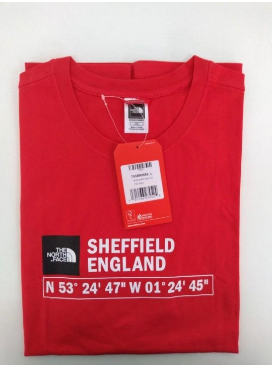 The North Face T-shirt Red Sheffield