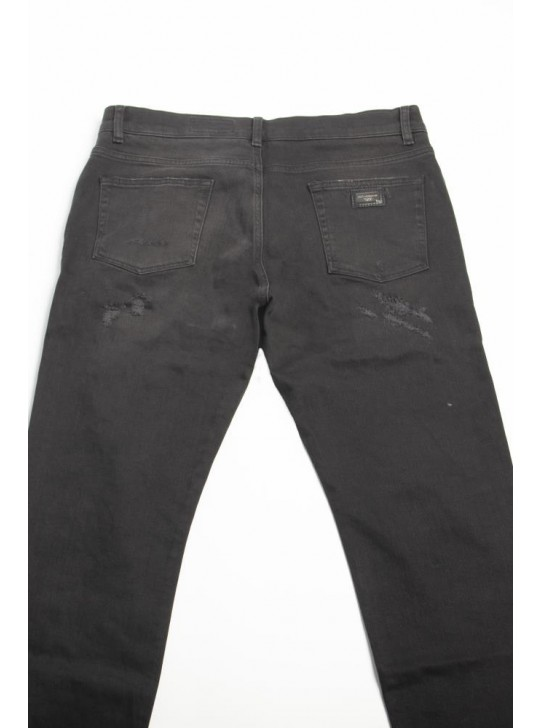 Dolce & Gabbana Mens Distressed Jeans Black