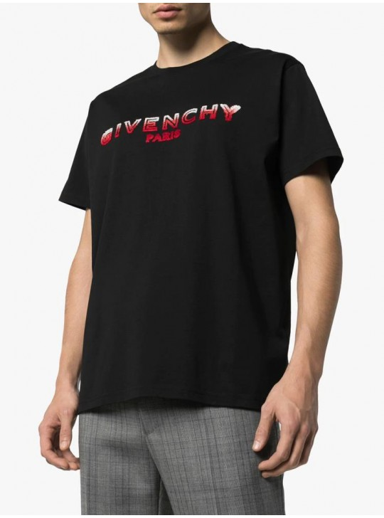 Givenchy Mens Faded T Shirt Black