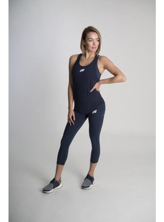 Feed The Gains FTG Women's Fit Vest - Navy