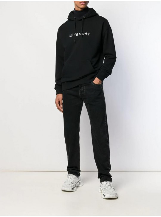 Givenchy Mens Embroidered Logo Hoodie