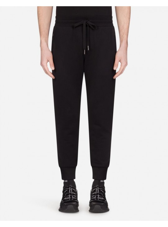 Dolce & Gabbana Mens Jersey Jogging Pants With Patch
