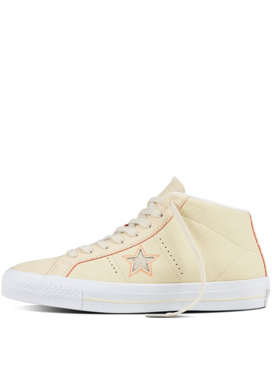 Converse One Star Pro Suede Backed Mid Natural