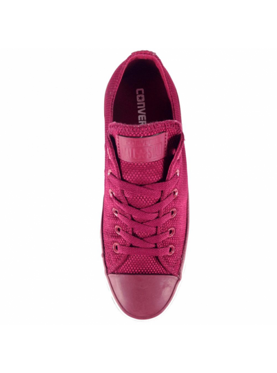 Converse All Star Ox Rhubarb Burgundy Nylon Weave Trainers