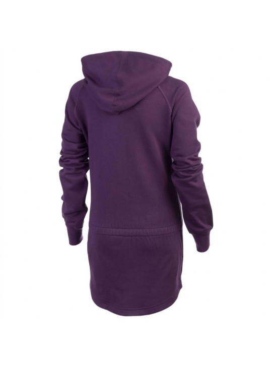 Nike Womens Femme AW77 HZ Half-Zip Purple Hoodie