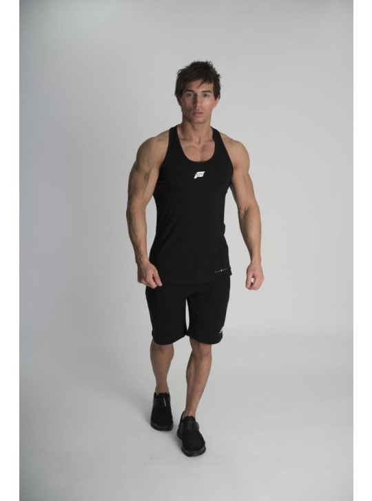 Feed The Gains FTG Men's Classic Fitted Vest - Black