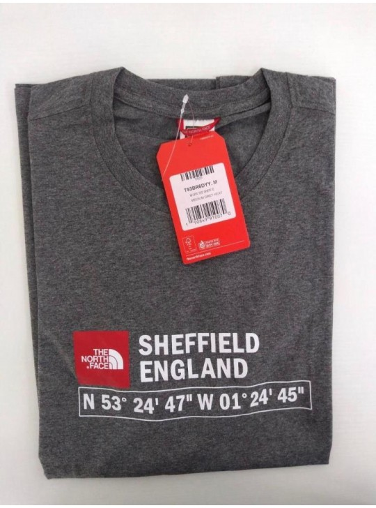 The North Face T-shirt Grey Heat Sheffield