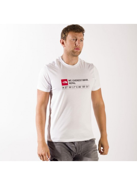 The North Face T-Shirt-White-Mt Everest