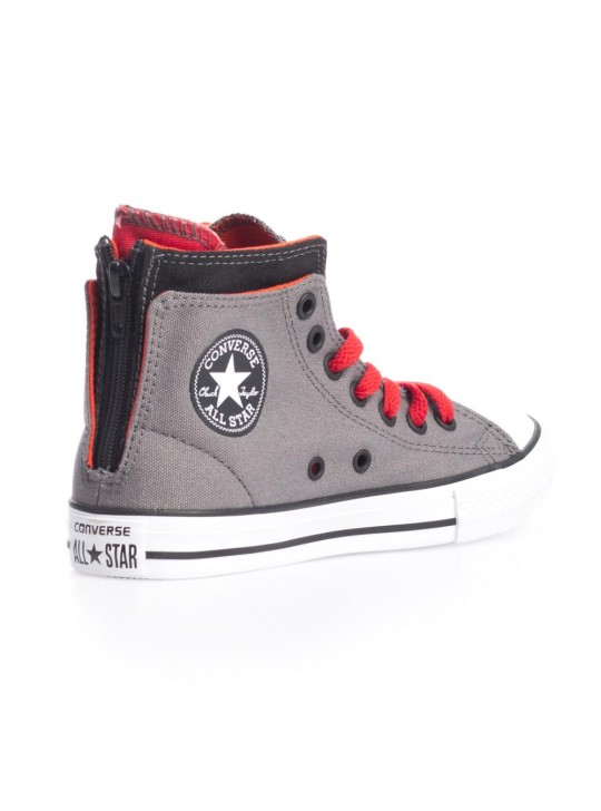 Converse Junior CT Zip Back Hi Grey