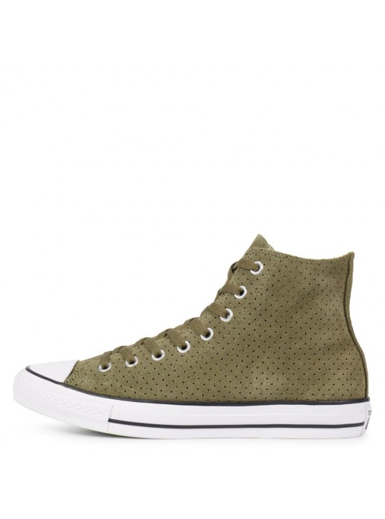 Converse Chuck Taylor All Star Perforated Suede Hi Green