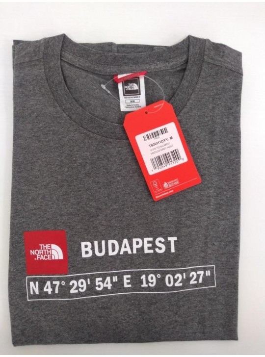 The North Face T-shirt Grey Heat Budapest
