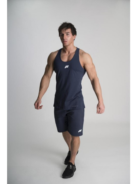 Feed The Gains FTG Men's Classic Fitted Vest - Navy
