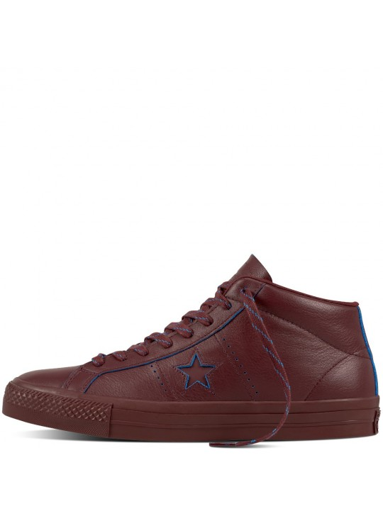 Converse Cons One Star Pro Rub-Off Leather Deep Bordeaux