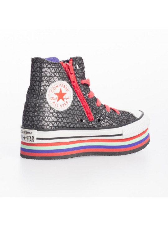 Converse Junior CT Zip Plat Layer Hi Black