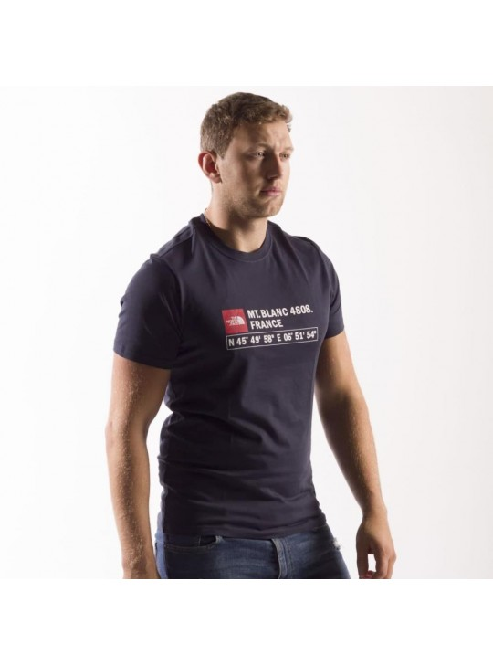 The North Face T-Shirt-Navy-Mt Blanc France