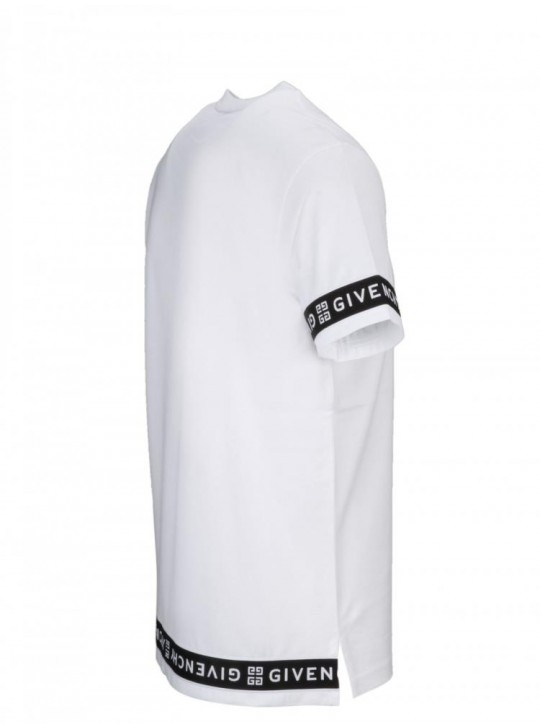 Givenchy 4G mens contrasted slim fit t shirt white