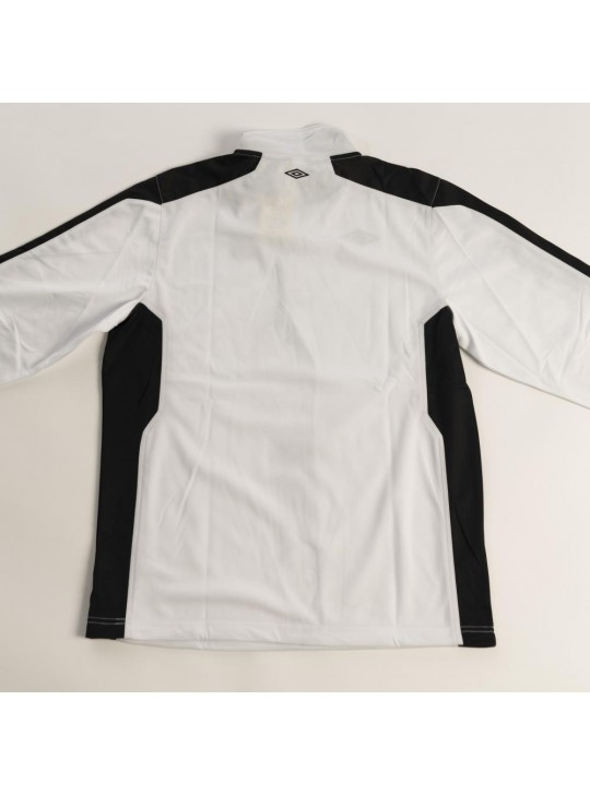 umbro 1/2 Zip Sweatshirt White/Black/Gold