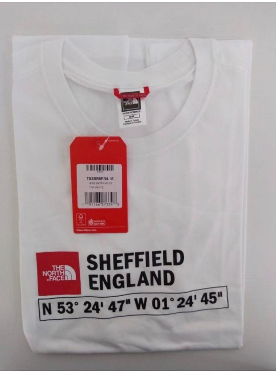 The North Face T-shirt Taupe White Sheffield