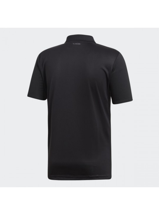 Adidas Originals Men's 3-Stipe Club Black Short Sleeve Polo
