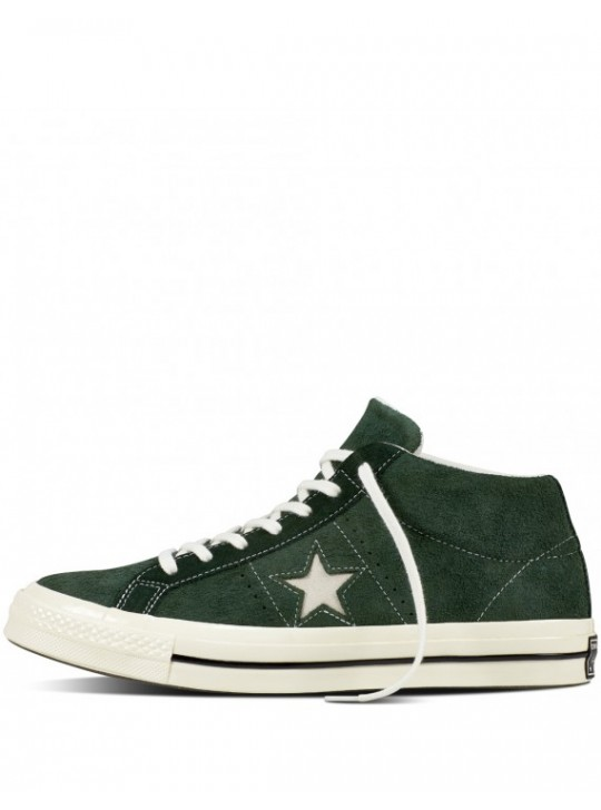 Converse One Star Mid Green/White