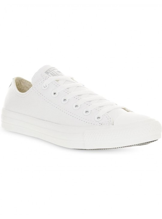 Converse Chuck Taylor Leather Low Top White Mono