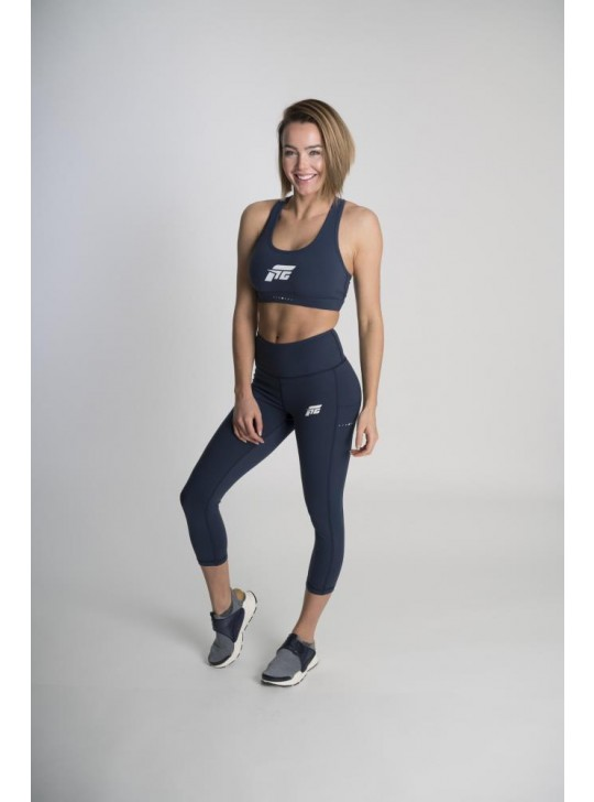 Feed The Gains FTG Women's Sports Bra Classic - Navy