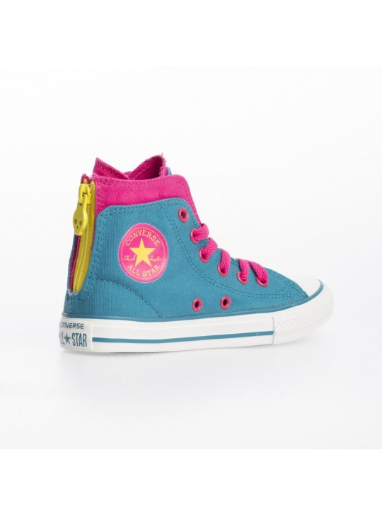 Converse Junior CT Zip Back Hi Blue