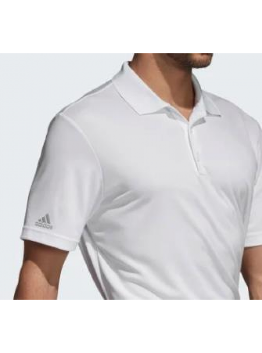 Adidas Men's Performance White Short Sleeve Polo