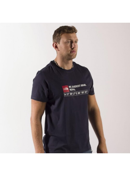 The North Face T-Shirt-Navy-Mt Everest Nepal