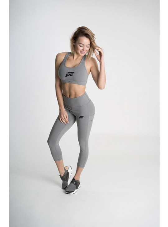 Feed The Gains FTG Women's Sports Bra Padded - Grey
