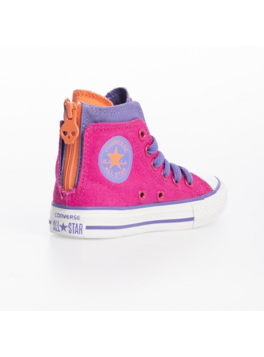 Converse Junior CT Zip Back Hi Cosmos Pink