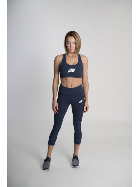 Feed The Gains FTG Women's Figure Capri Leggings - Navy
