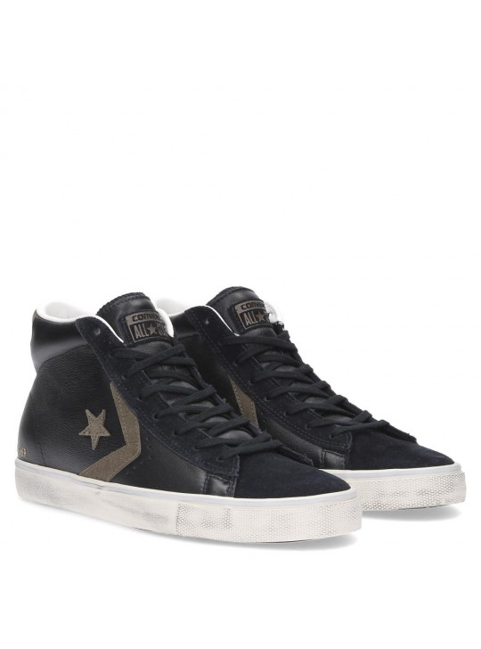 Converse Pro Leather Vulc Mid Leather Black