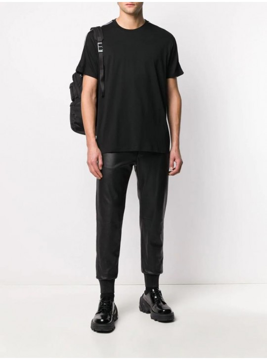 Givenchy Mens Contrasted T Shirt Black