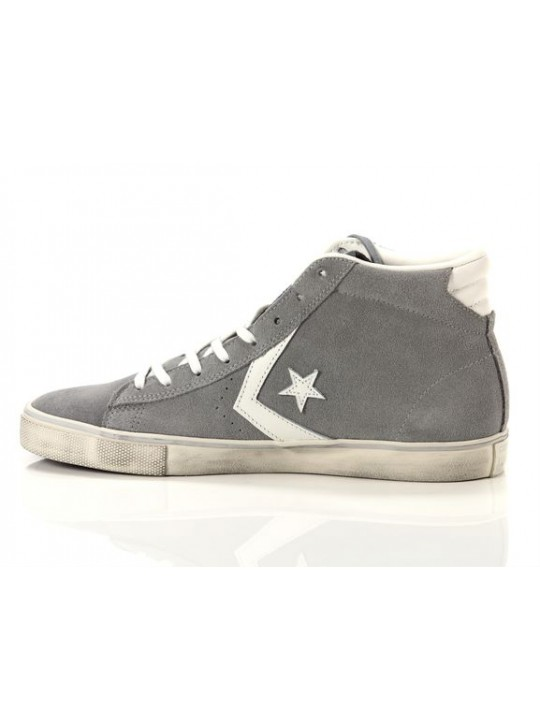 Converse Pro Leather Vulc Mid Suede Distressed