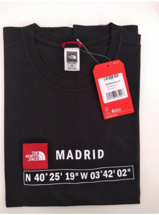 The North Face T-shirt Black Madrid
