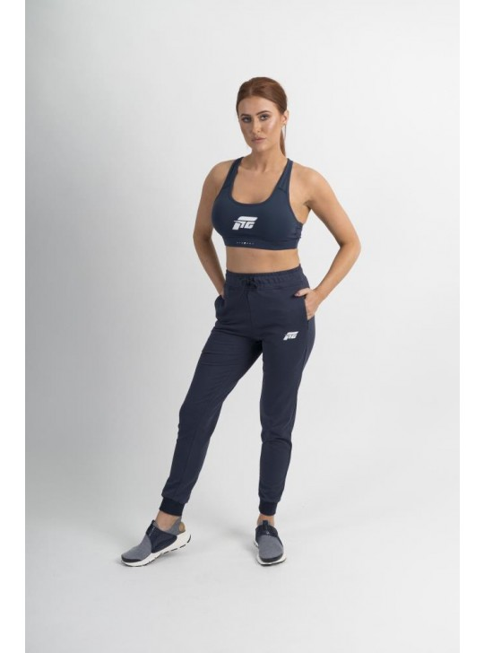 Feed The Gains FTG Women's High Waisted Joggers - Navy