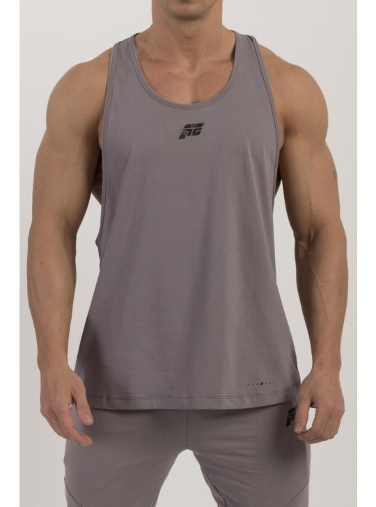 Feed The Gains FTG Men's Loose Muscle Vest - Grey
