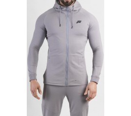 Feed The Gains FTG Men's Fitted Hoody - Grey