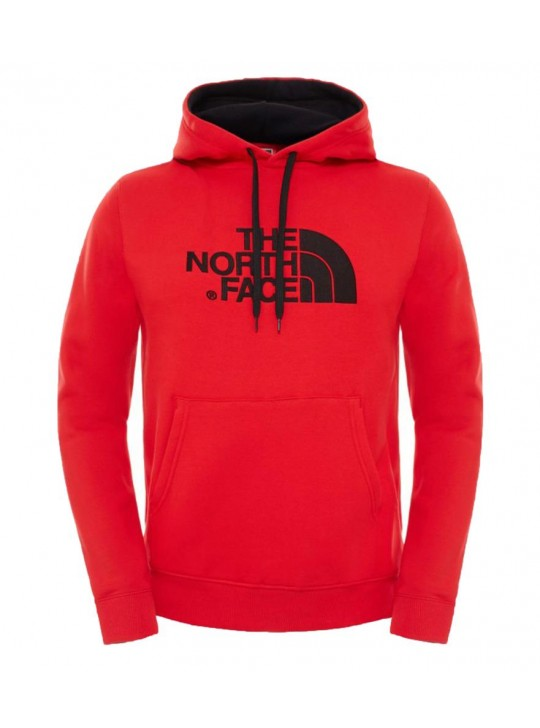 The North Face Mens Fleece Lined Red Hoodie