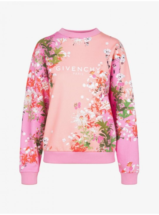 Givenchy Paris Womens Floral Printed Sweatshirt