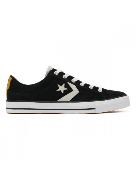 Converse Black White Star Player Suede Ox