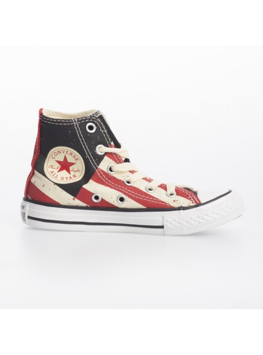 CONVERSE Junior Chuck Taylor Hi Fire Brick Black