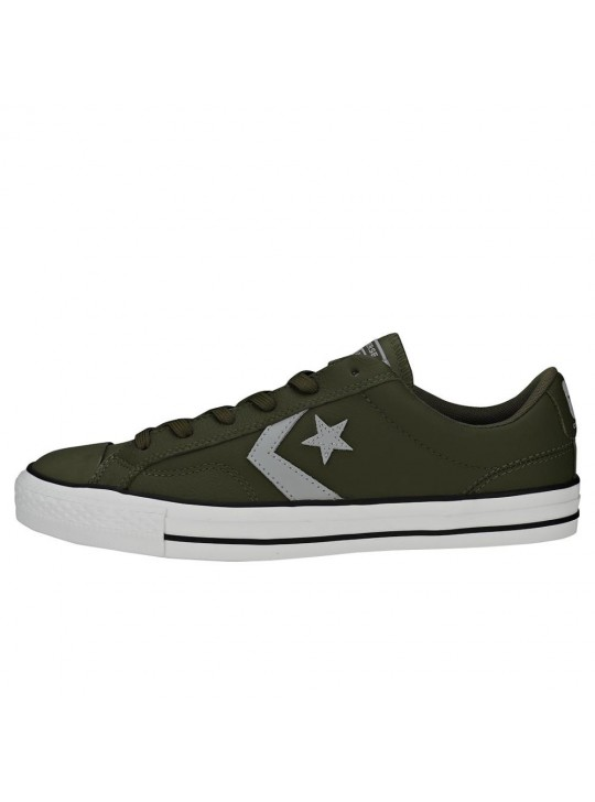 Converse Star Player Ox Leather Olive